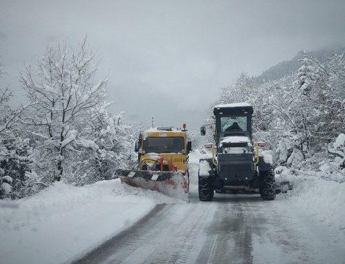 ΤΩΡΑ: Η κατάσταση  στο οδικό δίκτυο της Κορινθίας, λόγω χιονοπτώσεων