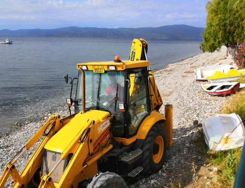 Άγιοι θεόδωροι:Καθαρισμός και διαμόρφωση της παραλίας