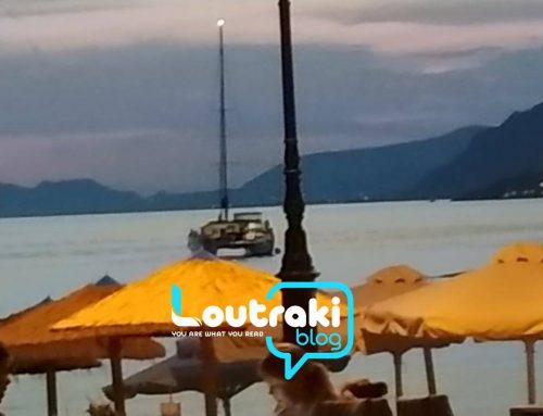Παραλία Λουτρακίου πριν λίγο