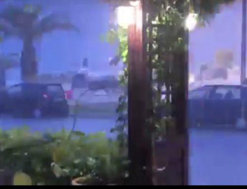Συνεχίζεται με αμείωτη ένταση η νεροποντή στην Κόρινθο.. (video)
