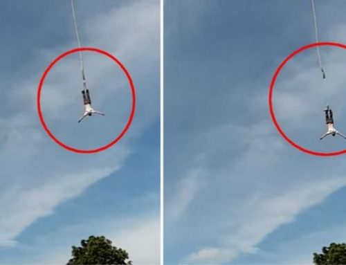 Εφιαλτικό βίντεο: 39χρονος κάνει bungee jumping και σπάει το σκοινί