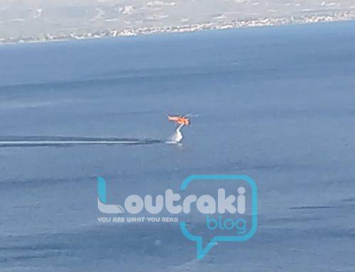 ΓΕΡΑΝΕΙΑ:Aπό τις 7 το πρωί ελικόπτερα και αεροπλάνα  κάνουν ρίψεις νερού