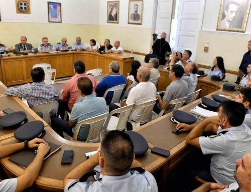 διευρυμένη σύσκεψη με θέμα την αντεγκληματική πολιτική στην Π.Ε Κορινθίας (φωτο)