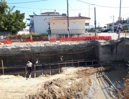 Συνεχίζονται οι εργασίες του τοιχείου αντιστήριξης στη γέφυρα της ΠΕΟ Κορίνθου – Πατρών στο Βραχάτι