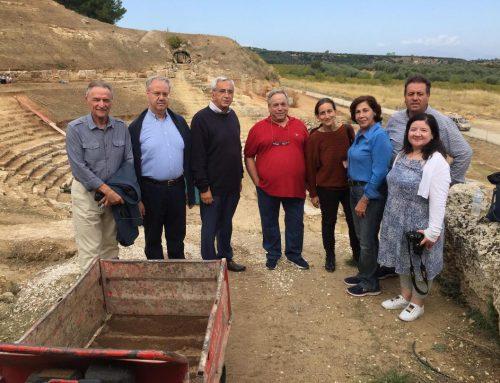 To αρχαίο θέατρο Σικυώνας επισκέφθηκε η Αθηνά Κόρκα