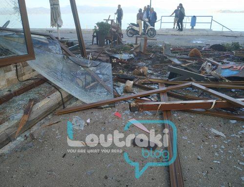 """Μεθυσμένος στρατιώτης πήρε """"σβάρνα"""" τα μαγαζιά της παραλίας στο Λουτράκι (εικόνες)"""