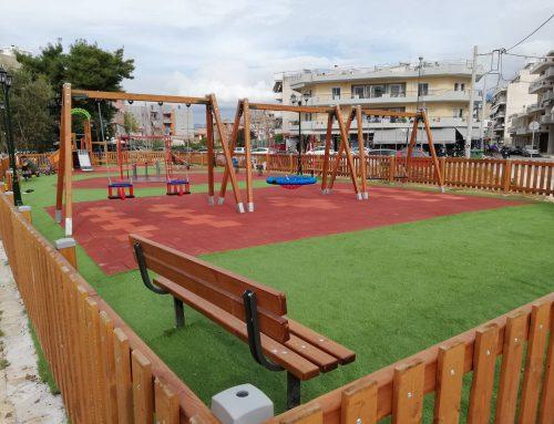 Παράδοση Παιδικής Χαράς από το Δήμαρχο Κορινθίων Πιστοποιημένης και για ΑΜΕΑ