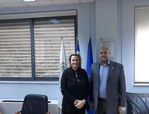 Συνάντηση της Μαριλένας Σούκουλη  με το Διοικητή του ΕΚΑΒ