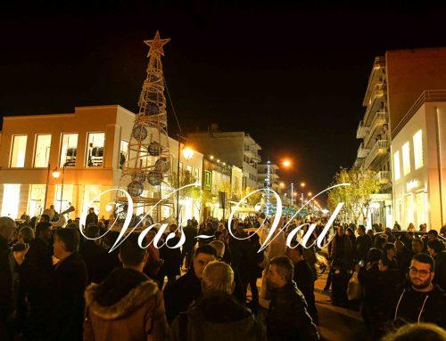 Κόρινθος: Πλήθος κόσμου στο άναμα του Χριστουγεννιάτικου δέντρου (εικόνες)