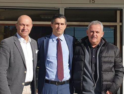 Συνάντηση Χρίστου Δήμα ,Γιώργου Γκιώνη, Αννίβα Παπακυριάκου με τον Υπουργό Εσωτερικών