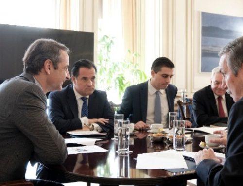 Στον Πρωθυπουργό ο Χ. Δήμας, για την επισημοποίηση της συμφωνίας του Υπουργείου Ανάπτυξης με το ίδρυμα Ωνάση.