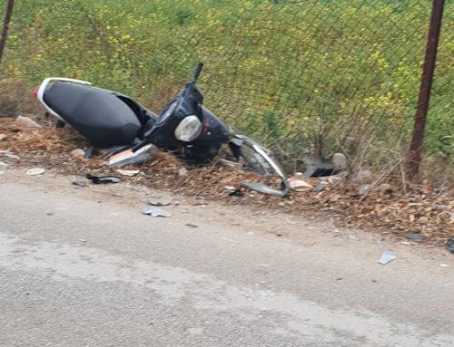 Κόρινθος :Τροχαίο με τραυματισμό στην Αγίας Αννης (φωτο)