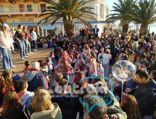 Λουτράκι: Πλημμύρισε από παιδιά η παραλία στις καρναβαλικές εκδηλώσεις  (φωτο)