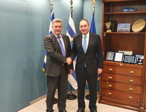 Συνάντηση Δημάρχου Κορινθίων με τον Υπουργό Ναυτιλίας..Νανόπουλος: Το Λιμενικό Ταμείο θα παραμείνει Δημοτικό