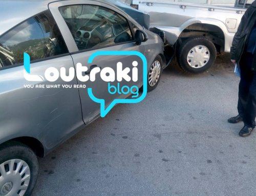 Ατύχημα με 3 αυτοκίνητα στο Λουτράκι(pics)