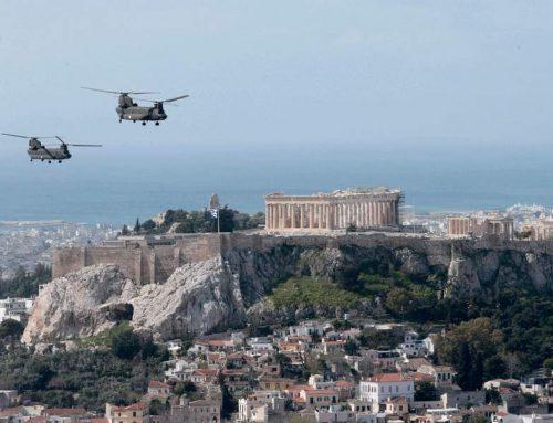 25η Μαρτίου 2020: Mirage και ελικόπτερα πέταξαν πάνω από την Αθήνα (εικόνες)