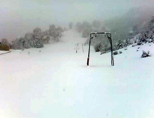 Χιονίζει στην Ορεινή Κορινθία (εικόνες)