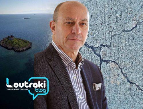 Loutrakiblog.gr : Ανησυχία για το ρήγμα των Αλκυονίδων. Τι λέει ο δήμαρχος Γιώργος Γκιώνης