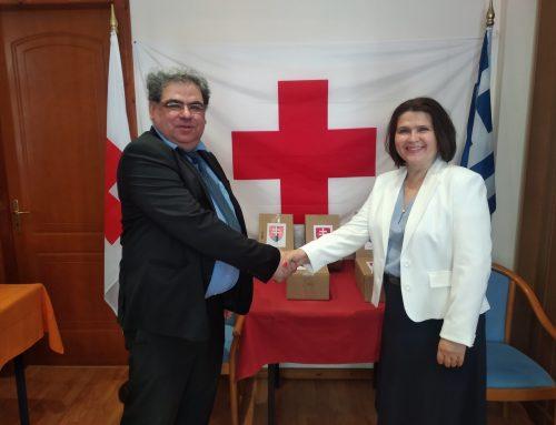 Δωρεά εφοδίων από την Πρεσβεία Σλοβακίας στον Ερυθρό Σταυρό Λουτρακίου