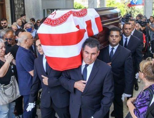 Θλίψη στο ελληνικό ποδόσφαιρο με την κηδεία του Νίκου Αλέφαντου