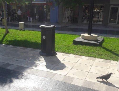 Τοποθετήθηκαν 50 νέοι μεταλλικοί κάδοι στους πεζόδρομους της Κορίνθου