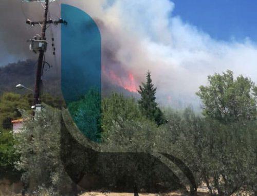 Λουτράκι: Πρώτα πλάνα από τη φωτιά στην Περαχώρα (video)