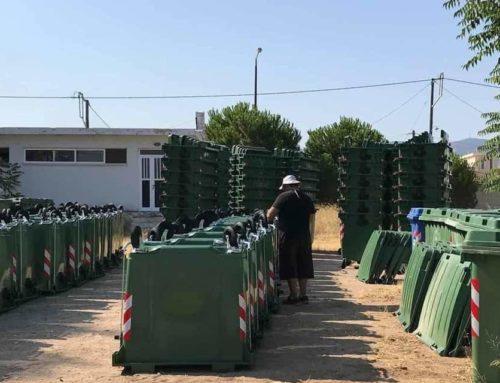 440 νέους πράσινους κάδους παρέλαβε ο Δήμος Κορινθίων – Ξεκινάει άμεσα η τοποθέτηση τους