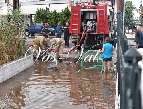 Πλημμύρες στα Λουτρά και την Αλμυρή στην Ανατολική Κορινθία από τον Ιανό (εικόνες)