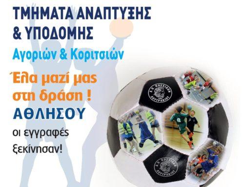 Ξεκίνησαν οι εγγραφές στα τμήματα υποδομής Handball του Ποσειδώνα Λουτρακίου