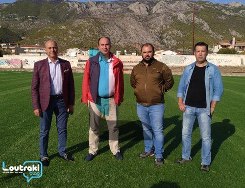 Λουτράκι: Επίσκεψη του Αντιπεριφερειάρχη Τάσου Γκιολή στο γήπεδο του Ολυμπιακού (video-φωτο)