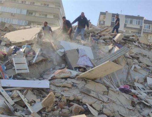 Καταρρεύσεις κτηρίων και εγκλωβισμένοι στη Σμύρνη μετά τον σεισμό στη Σάμο (φωτο,video)