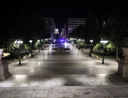 Άδειοι δρόμοι σε Αθήνα και Θεσσαλονίκη τη νύχτα, λόγω απαγόρευσης κυκλοφορίας (φωτο)