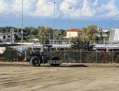 Λουτράκι: Εργασίες στο parking του Κολυμβητηρίου με τη συνδρομή του 747 Τάγματος Μηχανικού