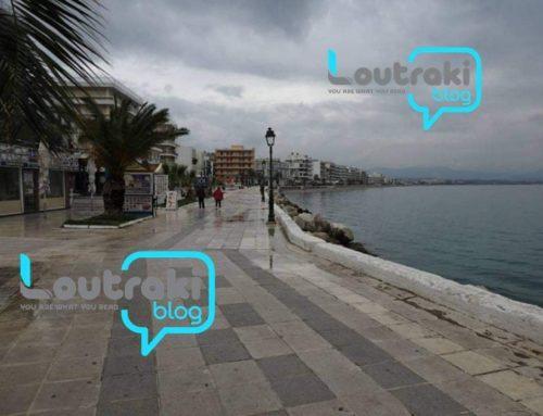 Λουτράκι: Ωραία ποτιστική βροχούλα ξέπλυνε την πόλη (φωτο)