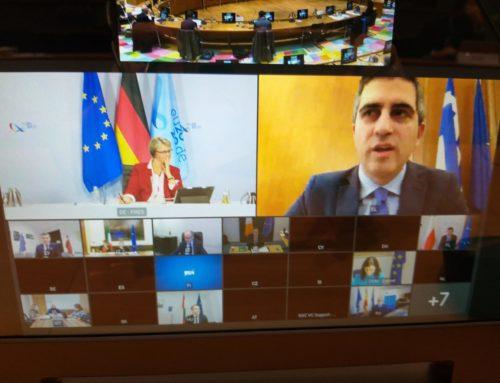 Ο Χρίστος Δήμας στο Συμβούλιο Υπουργών Έρευνας & Καινοτομίας της Ευρωπαϊκής Ένωσης.
