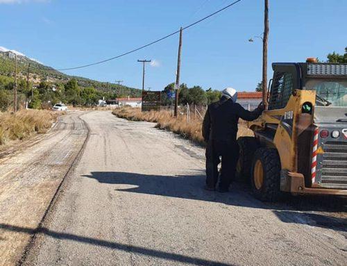 Αποκατάσταση οδοστρώματος της 28ης Οκτωβρίου στην περιοχή Σκάρπα Λουτρακίου