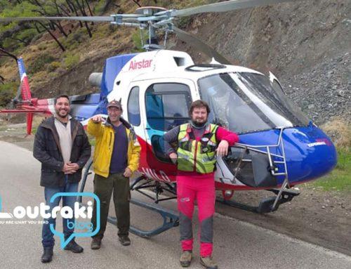 Σχίνος-Αλεποχώρι: Mε ελικόπτερο έφτασαν τα υλικά για την έναρξη εργασιών στο δρόμο (φωτο-video)
