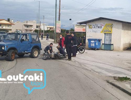 Tροχαίο ατύχημα στο Κιάτο με ένα τραυματία (φωτό)