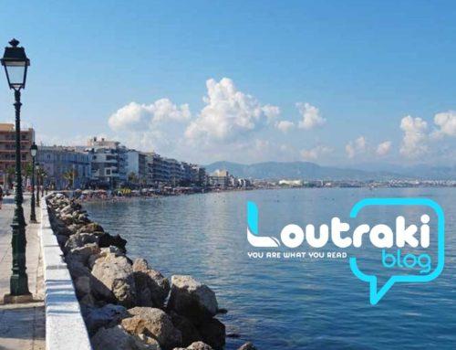 Λουτράκι: Πάπια κολυμπάει στον Κορινθιακό (video)