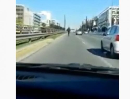 Αναστάτωση στην Συγγρού πατίνι με ταχύτητες «Ferrari» ανενόχλητο στο αριστερό ρεύμα (video)