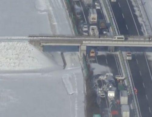 Ιαπωνία: Καραμπόλα 130 αυτοκινήτων λόγω του χιονιά (video)