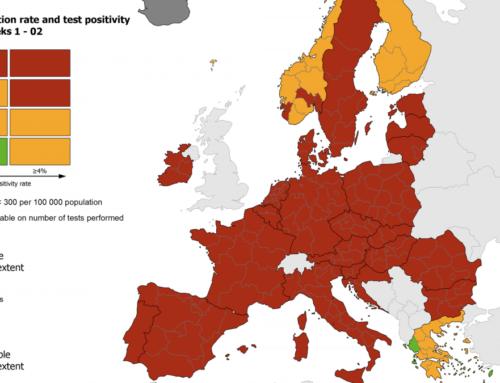 Χάρτης ECDC: Η Ελλάδα στις ελάχιστες «πορτοκαλί» χώρες – Η μόνη με πράσινες περιοχές