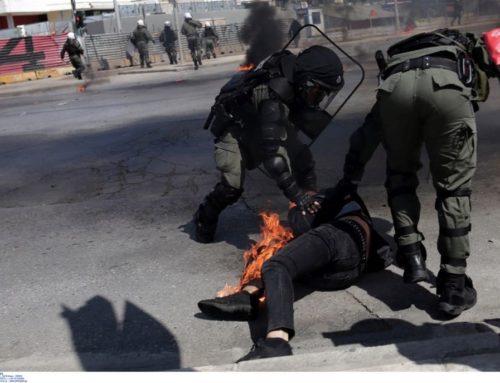 Θεσσαλονίκη: Ήθελε να κάψει αστυνομικούς και κάηκε ο ίδιος με μολότοφ