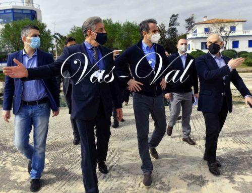 Στη διώρυγα της Κορίνθου ο Μητσοτάκης -Ενημερώθηκε για τα έργα αποκατάστασης