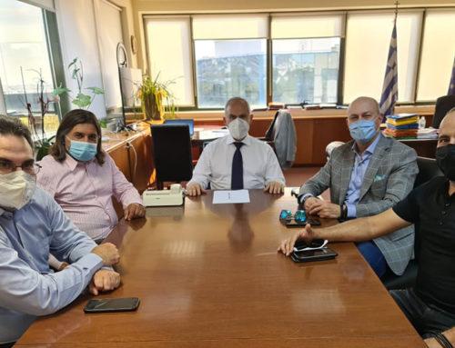Οι καταρράκτες και ο Σχίνος κάποια από τα θέματα που συζητήθηκαν στη συνάντηση εργασίας του Δημάρχου κ. Γκιώνη με τον Υφυπουργό κ. Ταγαρά