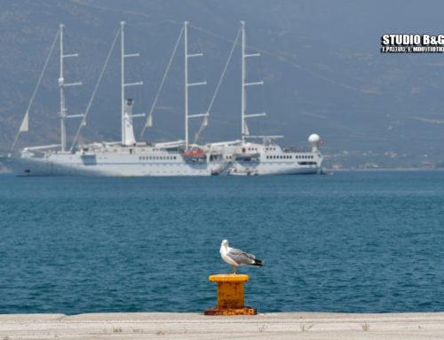 Πελοπόννησος: Άνοιξε η αυλαία της κρουαζιέρας. Το πρώτο κρουαζιερόπλοιο με 4 κατάρτια στο Ναύπλιο