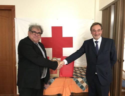 Λουτράκι: Ο Πρέσβης της Τσεχίας επισκέφθηκε τον Ερυθρό Σταυρό και δώρισε υγειονομικό υλικό (φωτο)