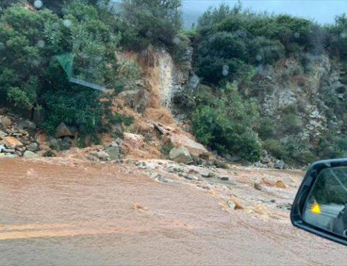 Κλειστή λόγω κατολισθήσεων η επαρχιακή οδός Σχίνος-Αλεποχωρίου